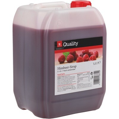 Grosspackung Quality Himbeer Sirup 5 Liter