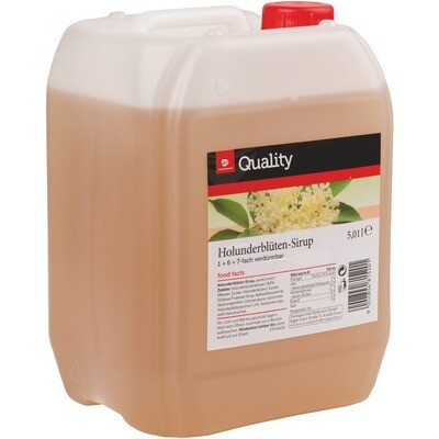 Grosspackung Quality Holunderblüte Sirup 5 Liter