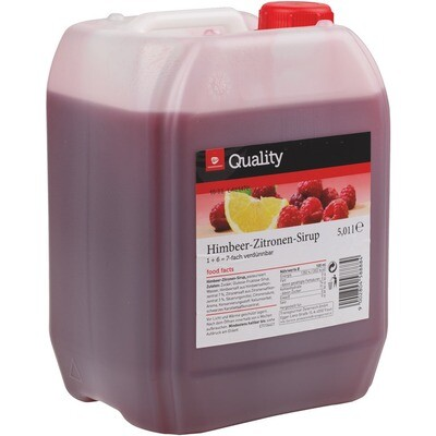 Grosspackung Quality Himbeer/Zitrone Sirup 5 Liter