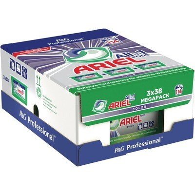 Grosspackung Ariel Professional All in 1 Pods Colour 3 x 38 WL