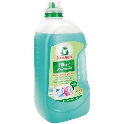 Grosspackung Frosch Waschmittel flüssig, einsetzbar von 20°C - 60°C 3 x 5 l = 15 Liter