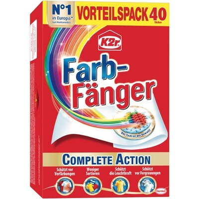 Grosspackung K2r Farbfänger & Fleckenentferner 12 x 40er = 480 Tücher