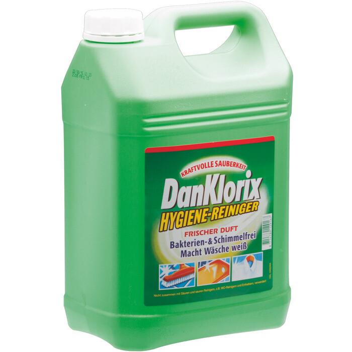 Grosspackung  Dan Klorix Hygiene-Reiniger Frischeduft, macht Wäsche weiss 5 Liter