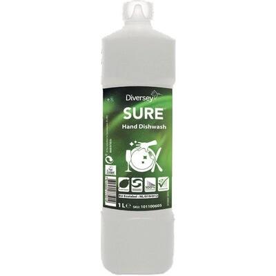 Grosspackung Sure Hand Dishwash Biologischer Reiniger 6 x 1l = 6 Liter