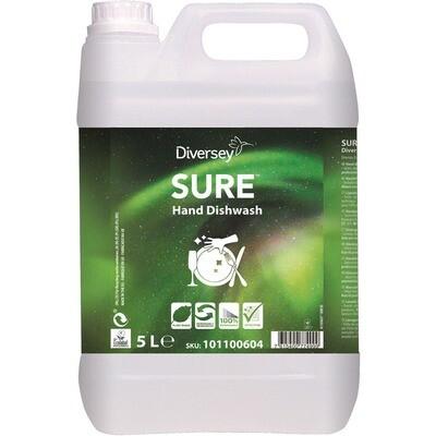 Grosspackung Sure Hand Dishwash Biologischer Reiniger 5 Liter