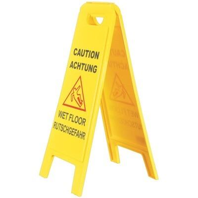 Warnschild für nasse Böden Achtung Ruschgefahr