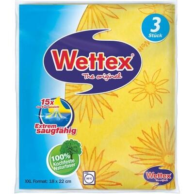 Grosspackung Wettex Schwammtuch 17,5 x 22 cm 6 x 3 Stk. = 18 Stk.
