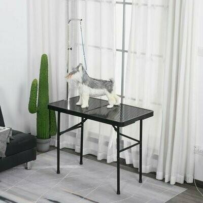 PawHut® Trimmtisch Tierpflegetisch Schertisch Pflegetisch für Hunde klappbar Schwarz Hundecoiffeur Hundesalon
