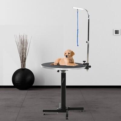 PawHut® Trimmtisch Tierpflegetisch runder Schertisch höhenverstellbar klappbar Schwarz Hundecoiffeur Hundesalon