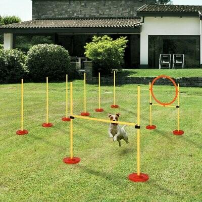 PawHut® Haustier Agility Set 3-in-1-Training für Haustiere Inklusive Tasche Leicht zu tragen