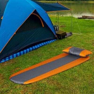 Outsunny® Luftmatraze Aufblasbare Luftbett Kopfkissen Schlafmatte Camping Matraze Pongee