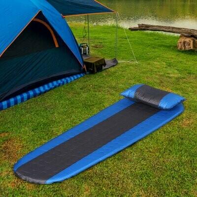 Outsunny® Luftmatraze Aufblasbare Luftbett Kopfkissen Camping Matraze Schlafmatte Pongee