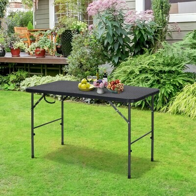 Outsunny® Klapptisch Campingtisch Falttisch Picknicktisch Faltbar Tragbar Metall Schwarz
