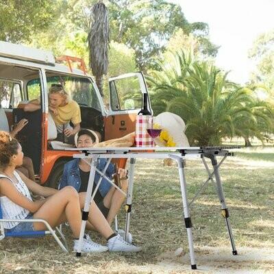 Outsunny® Klapptisch Campingtisch Falttisch Picknicktisch Höhenverstellbar Tragetasche Alu