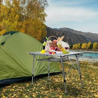 Outsunny® Picknick Klapptisch Campingtisch Falttisch Höhenverstellbar Tragetasche Alu