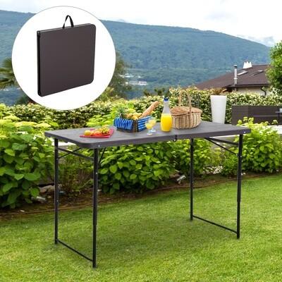 Outsunny® Klapptisch Campingtisch Falttisch Faltbar Höhenverstellbar Metall Kaffee