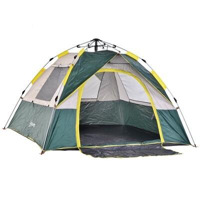 Outsunny® Zelt für 3-4 Personen Campingzelt mit Heringen Kuppelzelt Polyester Grün