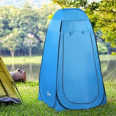 Outsunny® Pop up Toilettenzelt Camping Duschzelt Umkleidezelt Innentasche Polyester Blau