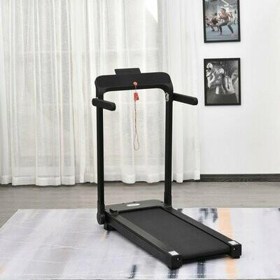HOMCOM Home elektrisches Laufband, Fitnessgerät mit LED Display, Faltbar, Schwarz