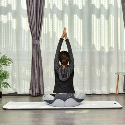 HOMCOM® Yogamatte Rutschfeste Sportmatte Gymnastikmatte mit Tragegurt Weiss