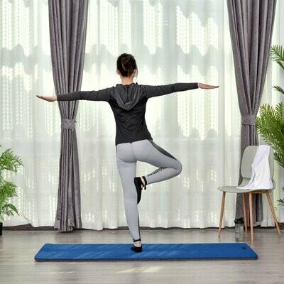 HOMCOM® Yogamatte Rutschfeste Sportmatte Gymnastikmatte mit Tragegurt Blau