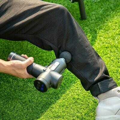 HOMCOM® Massagepistole mit Massagekopf Massagegerät Elektrische Schwarz