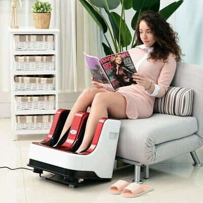 HOMCOM® Massagegerät Fussmassagegerät Fußreflexzonen_massage mit Wärmefunktion und 3 verschiedene Programmen Rot