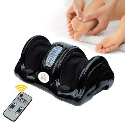 HOMCOM® Fußmassagegerät Reflexzonenmassage mit Fernbedienung Schwarz