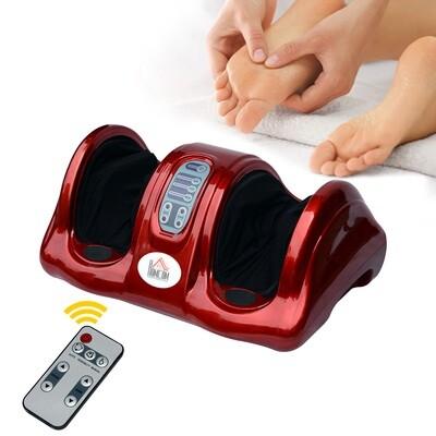 HOMCOM® Fussmassagegerät Reflexzonenmassage mit Fernbedienung Rot