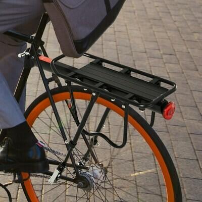 HOMCOM® Fahrrad Velo-Gepäckträger Fahrradtasche Schnellspanner Aluminium Schwarz