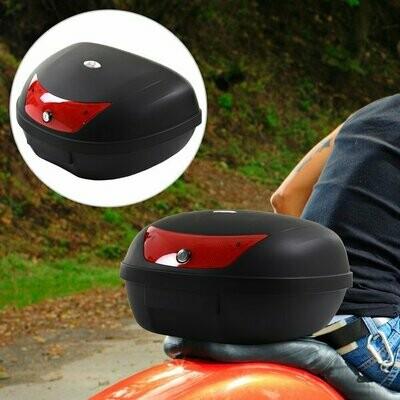 HOMCOM® Motorradkoffer Rollerkoffer für Motorräder Roller Mofas 48 L Helmkoffer Schwarz