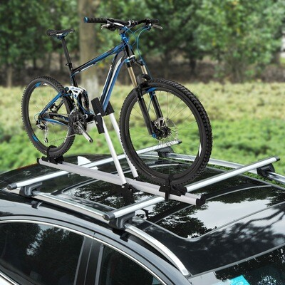 HOMCOM® Auto-Velo-Träger Fahrrradträger Dachträger Fahrradhalter Alu Nylon