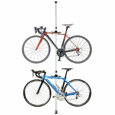 HOMCOM® Fahrradhalter Fahrradständer für 2 Fahrräder Velo-Halterung Alu-Legierung Silber