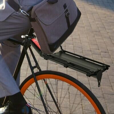 HOMCOM® Universal Fahrrad Velo Gepäckträger Fahrradtasche Aluminium Schwarz