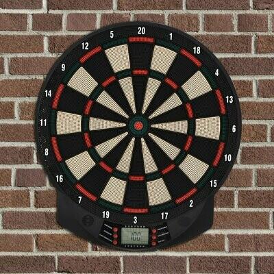 HOMCOM® Elektronische Dartscheibe Dartboard Dart-Set mit 6 Darts 8 Spieler