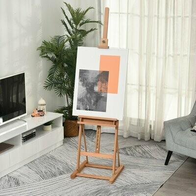 Vinsetto® Staffelei Höhen- und Winkelverstellbare Atelierstaffelei mit Ablage