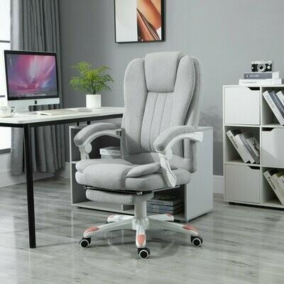 Vinsetto® Massage Sessel Bürostuhl Gaming Stuhl Polyester Schaumstoff Nylon Grau