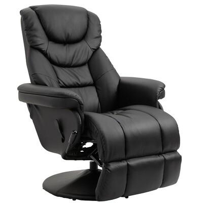 HOMCOM® Relaxsessel Fernsehsessel Einzelsofa 135 °Neigung 79x81x107cm Schwarz