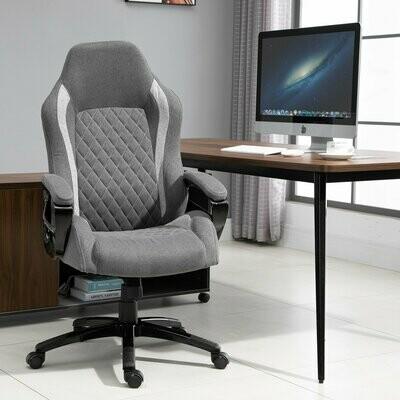 Vinsetto® Bürostuhl Massagefunktion drehbar 64,5 x 79 x 115-126 cm Grau