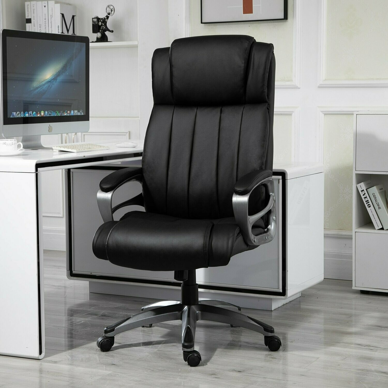 Vinsetto® Bürostuhl Massagefunktion drehbar 64,5 x 79 x 115-126 cm Schwarz