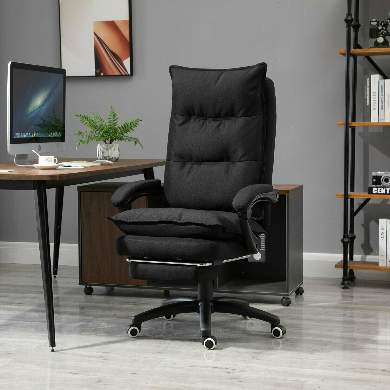Vinsetto® Bürostuhl Massagefunktion höhenverstellbar Schwarz