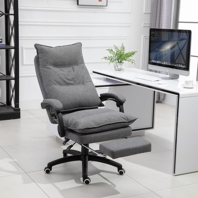 Vinsetto® Massage Sessel Bürostuhl Massagefunktion höhenverstellbarer Chefsessel Grau