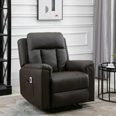 HOMCOM® Relaxsessel mit Massagefunktion Heizfunktion Fernsehsessel Braun