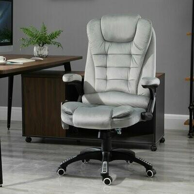 Vinsetto® Massage Sessel höhenverstellbarer Bürostuhl mit Massagefunktion Relaxsessel Grau