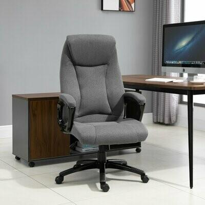Vinsetto® Massagesessel Chefsessel Drehstuhl Gamingstuhl Massagebürostuhl Grau