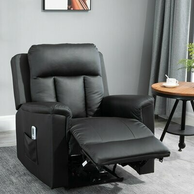 HOMCOM® Relaxsessel mit Massagefunktion Heizfunktion Fernsehsessel Schwarz
