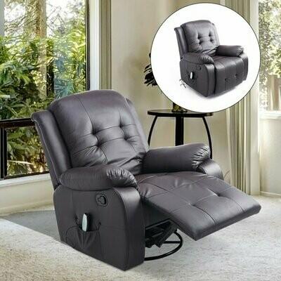 HOMCOM® Massagesessel mit Wärmefunktion TV Sessel mit Fernbedienung braun