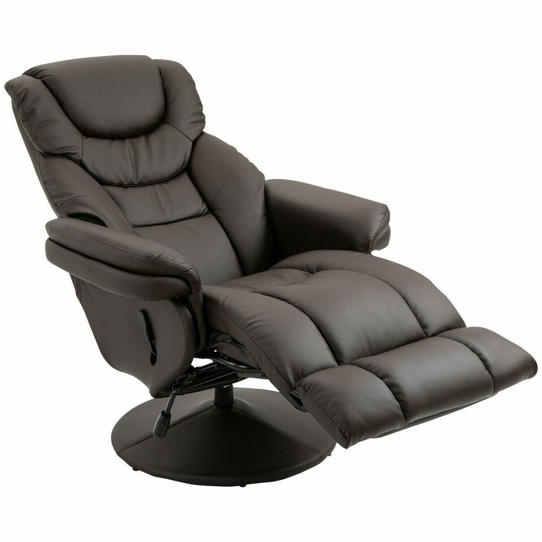 HOMCOM® Relaxsessel Fernsehsessel Einzelsofa 135 °Neigung 79x81x107cm Braun