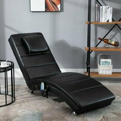 HOMCOM® Fernsehsessel Relax-Massageliege mit Zero-G Design Lounge Sessel Massageliege Schwarz