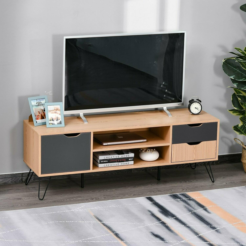 HOMCOM® TV-Kommode Sideboard Schrankelement Spanplatte Metall Grau